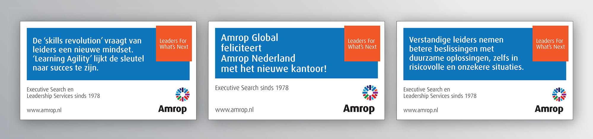 Opmaak advertenties Amrop klein.indd